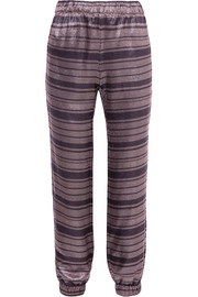 Haney Colette metallic striped silk-blend slim-leg pants