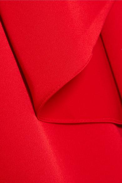 Paper London Drapierte Robe aus Crêpe de Chine