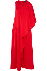 Draped crepe de chine gown