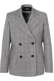 Leni oversized checked wool-blend blazer