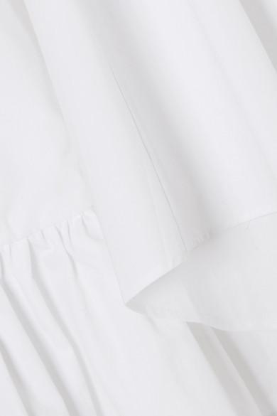 Paper London Oberteil aus Baumwolle mit Rüschen und asymmetrischer Schulterpartie