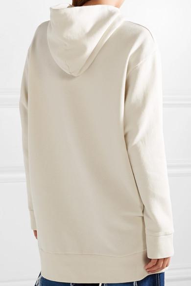 MM6 Maison Margiela Oversized-Kapuzenpullover aus Baumwollfrottee