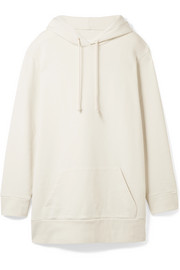 MM6 Maison Margiela Oversized French cotton-terry hooded top