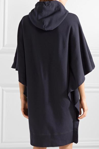 Mini-robe En Coton Éponge Imprimée Mm6 Maison Margiela, Coupe Oversize Avec Capuche