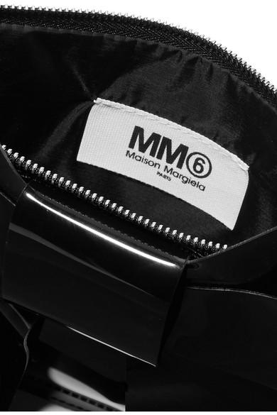 MM6 Maison Margiela Schultertasche aus Vinyl mit Schleifenverzierung