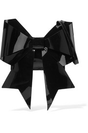 MM6 Maison Margiela Bow-embellished vinyl shoulder bag