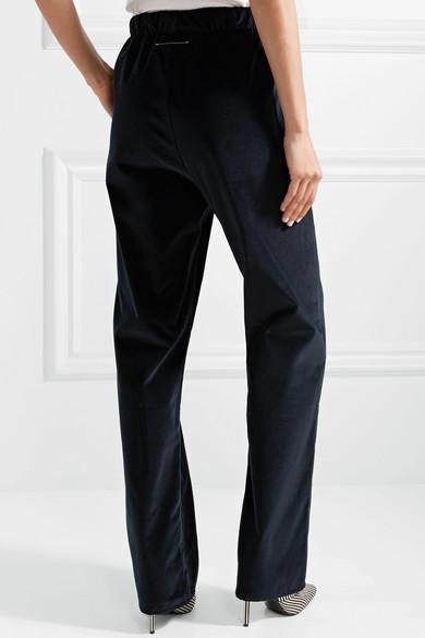 MM6 Maison Margiela Hose mit weitem Bein aus Baumwollsamt