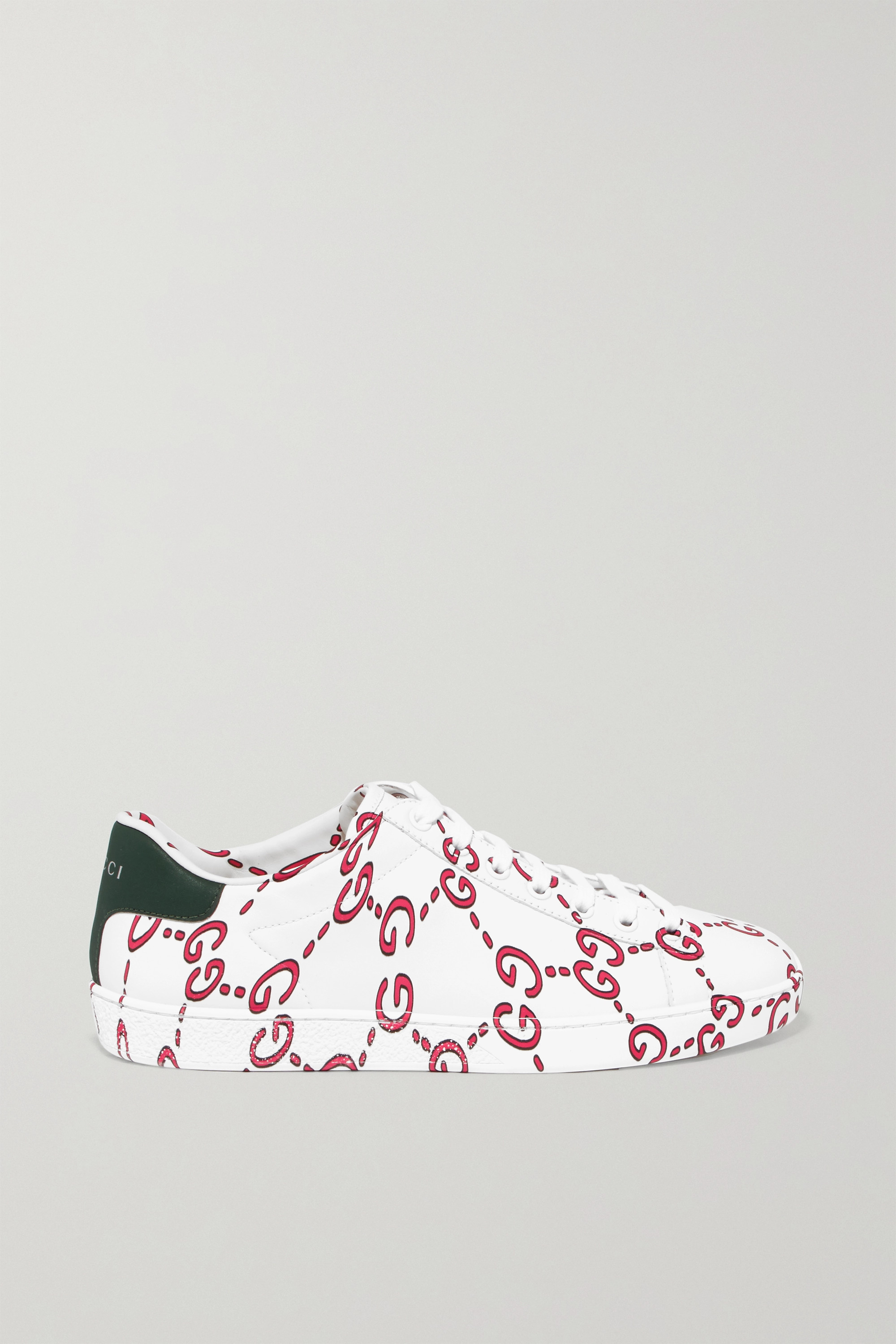 Gucci New Ace logo-print leather sneakers