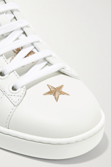 b559eccf6ef Gucci. Ace embroidered leather collapsible-heel sneakers.  730. Play