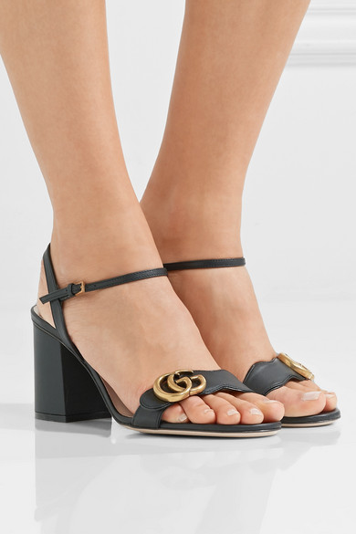 a0d029243325e9 Gucci. Marmont logo-embellished leather sandals