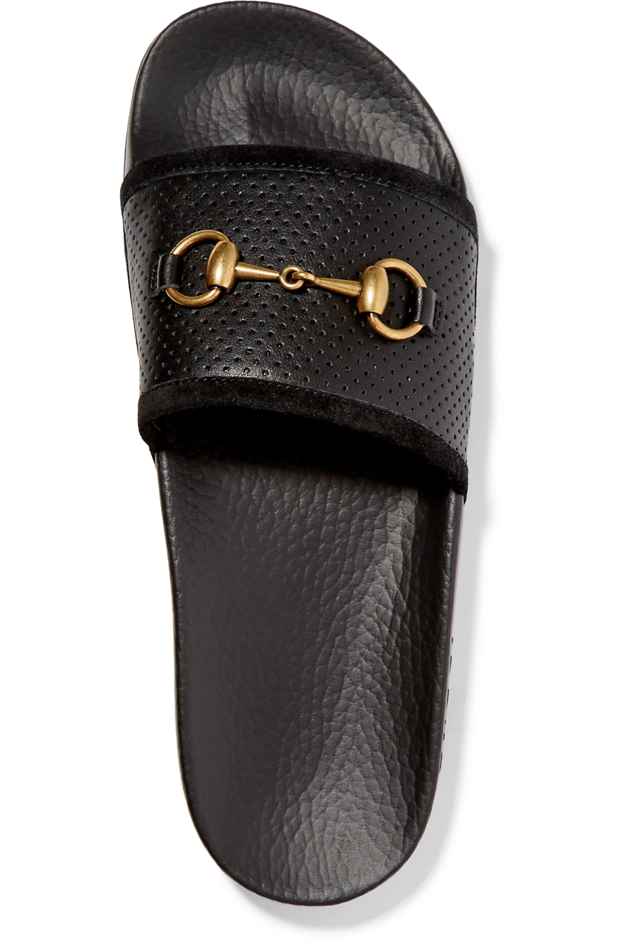 Gucci Horsebit-detailed perforated rubber slides