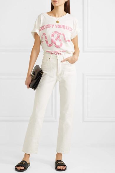Gucci Pursuit Pantoletten aus perforiertem Gummi mit Horsebit-Detail Billig Verkauf Blick Online-Verkauf Zum Verkauf Offizieller Seite Verkauf Rabatte 6dadb