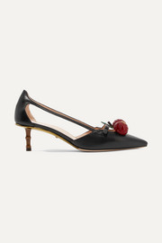 Gucci Unia embellished leather pumps