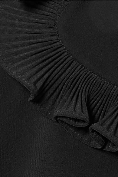 Co Bluse aus Crêpe de Chine mit in Falten gelegten Rüschen