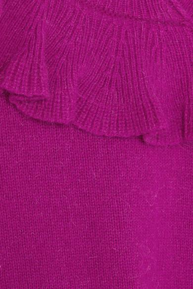 Co Pullover aus einer Alpakamischung mit Rüschen