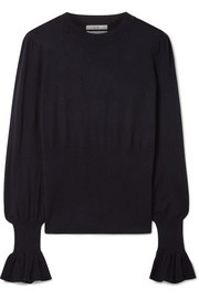 Co Ruffled silk and cashmere-blend sweater