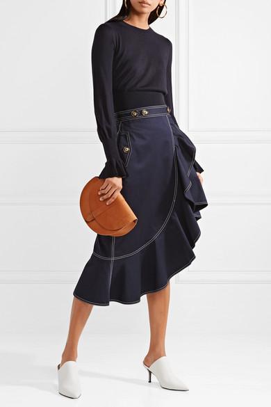 Co Pullover aus einer Seiden-Kaschmirmischung mit Rüschen