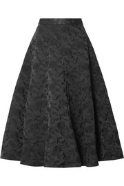 Co Embroidered twill midi skirt