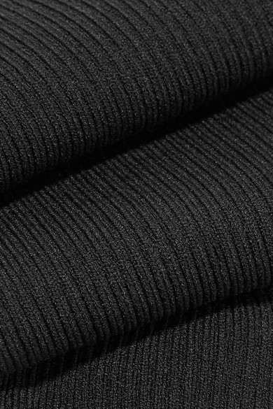 Ribbed Stretch-knit Legwarmers - Black Live The Process