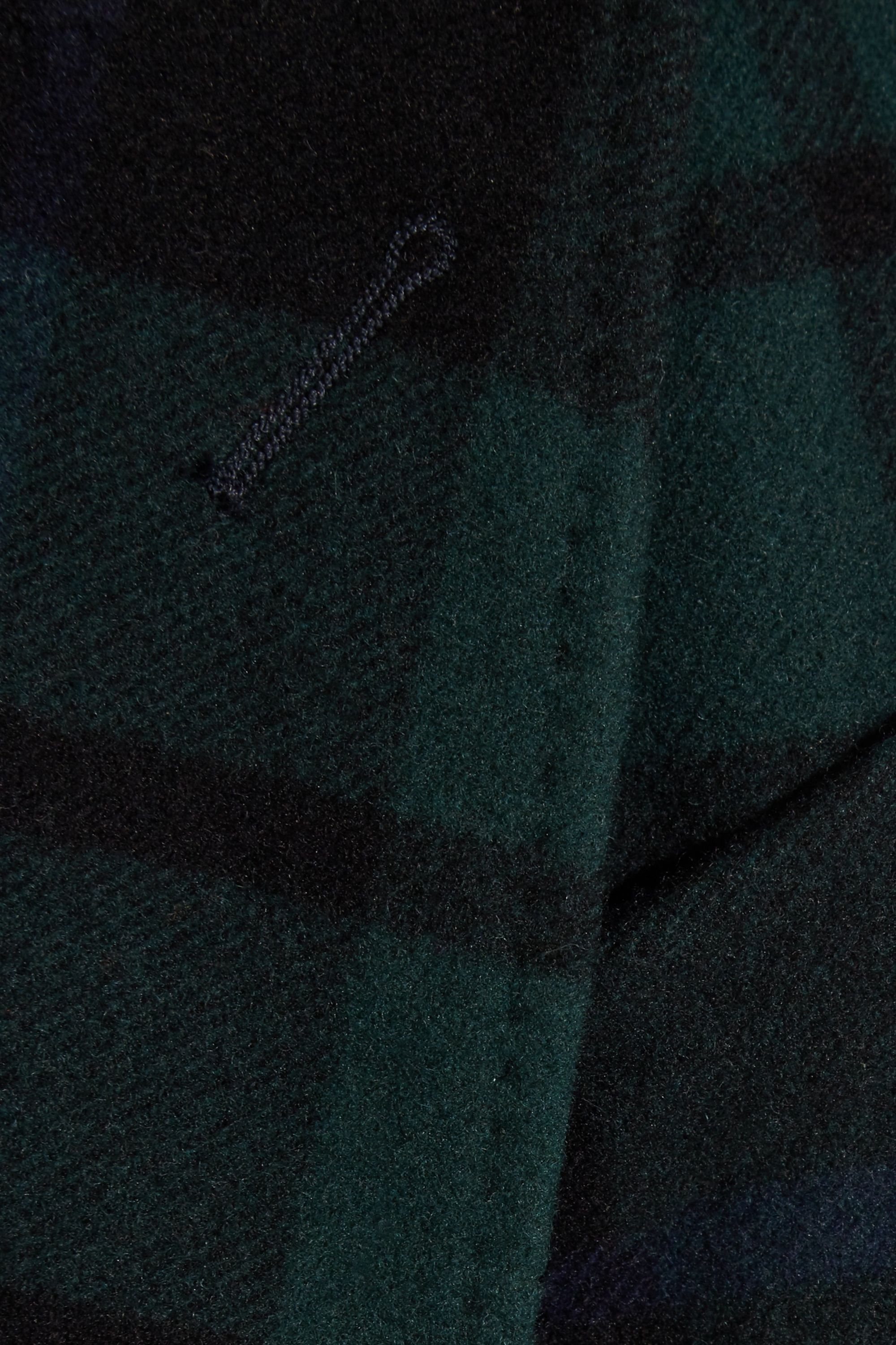 Burberry Double-breasted tartan wool and cashmere-blend coat