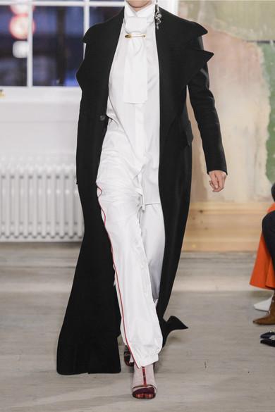 Burberry Doppelreihiger Mantel aus Wollfilz