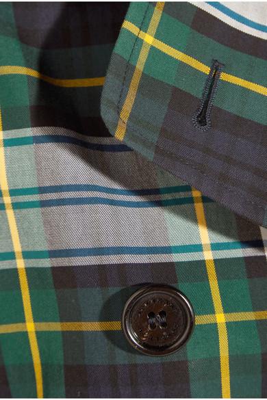 Burberry Trenchcoat aus Baumwoll-Gabardine mit Tartan-Muster