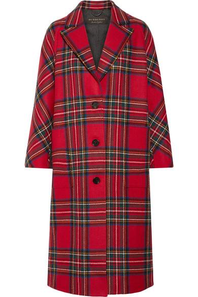 Burberry Mantel aus einer Woll-Kaschmirmischung mit Tartan-Muster
