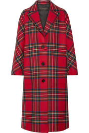Burberry Tartan wool and cashmere-blend coat
