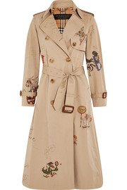 Burberry Printed cotton-gabardine trench coat