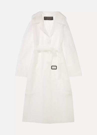 Burberry Trenchcoat aus gummiertem PUR mit Gürtel
