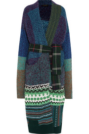 Burberry Oversized patchwork cashmere-blend cardigan