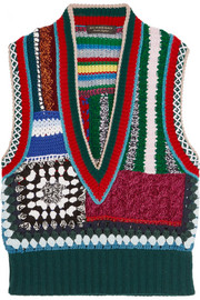 Burberry Patchwork crocheted vest