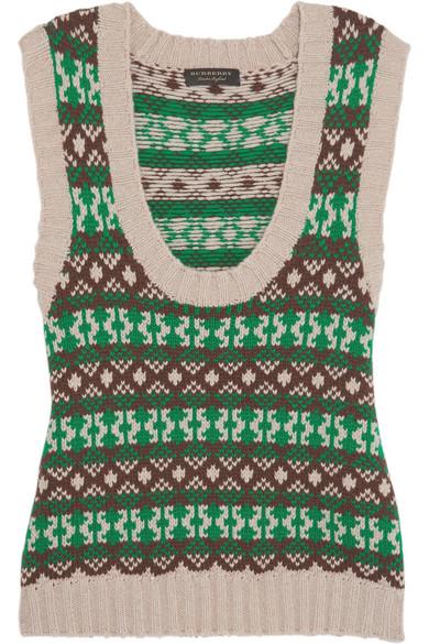Burberry Weste aus einer Kaschmir-Wollmischung mit Fair Isle-Muster