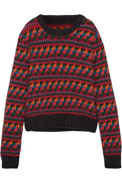 Burberry Pullover aus einer Wollmischung mit Intarsienmuster