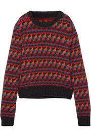 Intarsia wool-blend sweater
