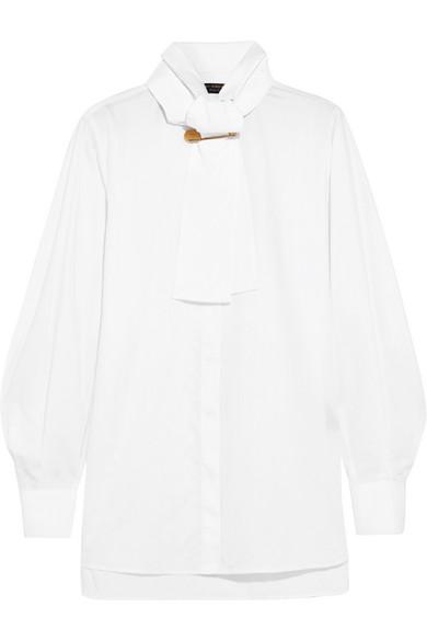 Burberry Hemd aus Baumwoll-Twill mit Besatz aus Baumwoll-Piqué