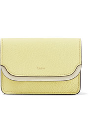 Chloé Two-tone textured-leather cardholder