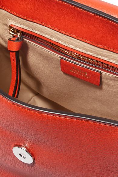 Chloé Faye kleiner Rucksack aus Leder und Veloursleder