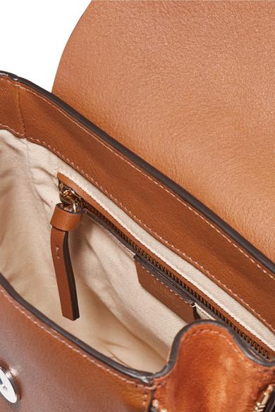 Chloé Faye kleiner Rucksack aus strukturiertem Leder und Veloursleder