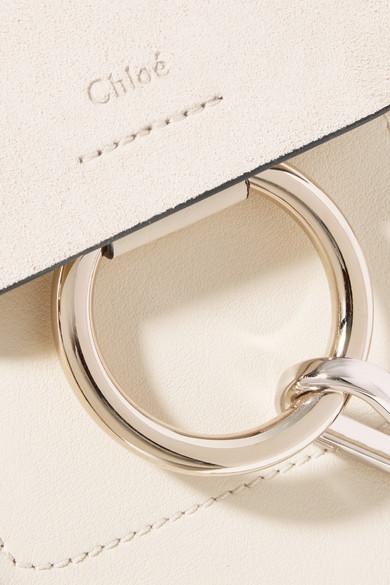 Chloé Faye mini Rucksack aus Veloursleder und Leder