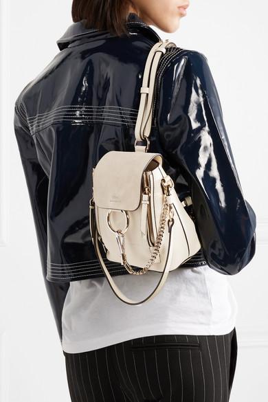 5ea91e5f5b Chloé | Faye mini textured-leather and suede backpack | NET-A-PORTER.COM