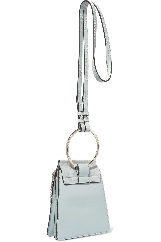 Chloé Faye Bracelet leather and suede shoulder bag