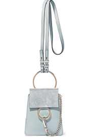 Chloé Faye Bracelet leather and suede shoulder bag