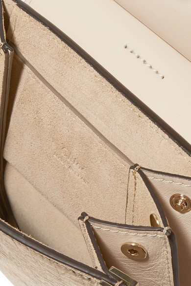 Chloé Faye Bracelet Mini Shoulder Bag From Craquelé Leather In Metallic Optics
