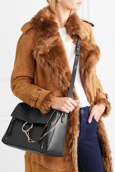 Chloé Faye Day große Schultertasche aus strukturiertem Leder