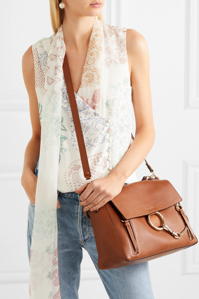 ae7eb5037bc Chloé | Faye Day large textured-leather shoulder bag | NET-A-PORTER.COM