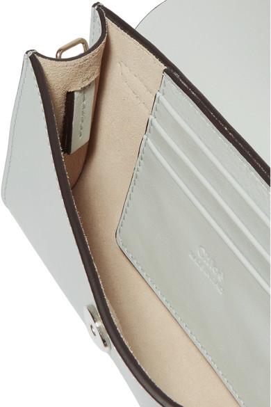 Chloé Faye mini Schultertasche aus Veloursleder und Leder