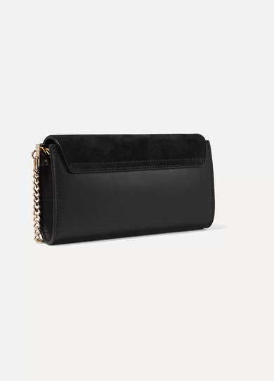 Chloé Faye Mini Shoulder Bag Made Of Leather And Suede