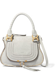 Chloé The Marcie small whipstitched suede shoulder bag