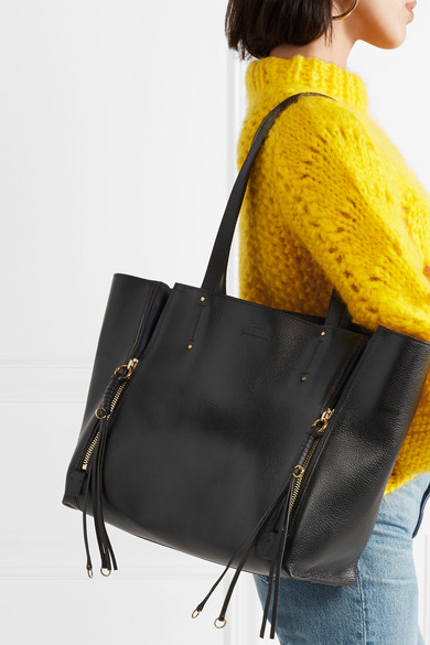 d57a70fff Chloé | Milo medium suede-trimmed textured-leather tote | NET-A ...